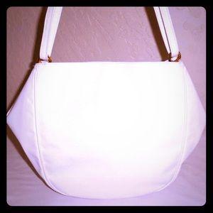 👜BOTTEGA VENETA WHITE FORTUNE COOKIE SHOULDER BAG